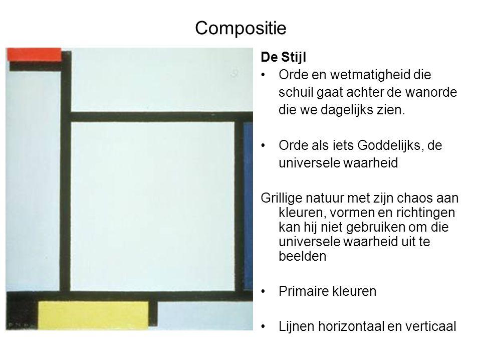 Compositie De Stijl Orde en wetmatigheid die schuil gaat achter de wanorde die we dagelijks zien.