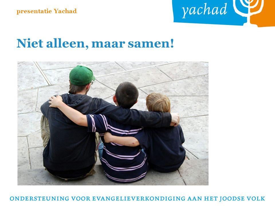 Niet alleen, maar samen! presentatie Yachad