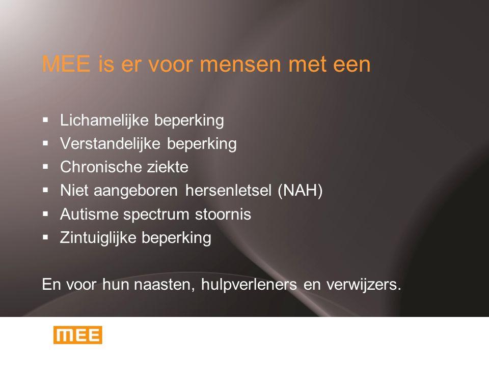 MEE informeert  Website: www.mee-nml.nl - sociale kaart - vrije tijd en vakantie - cursussen - woonwinkel - agendawww.mee-nml.nl  Informatiebijeenkomsten  Doe MEE!