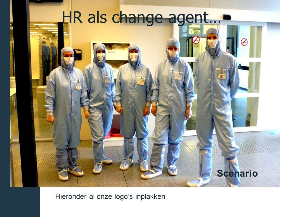 Hieronder al onze logo's inplakken HR als change agent… Scenario