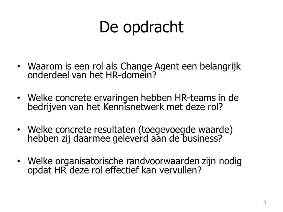 De opdracht Waarom is een rol als Change Agent een belangrijk onderdeel van het HR-domein.