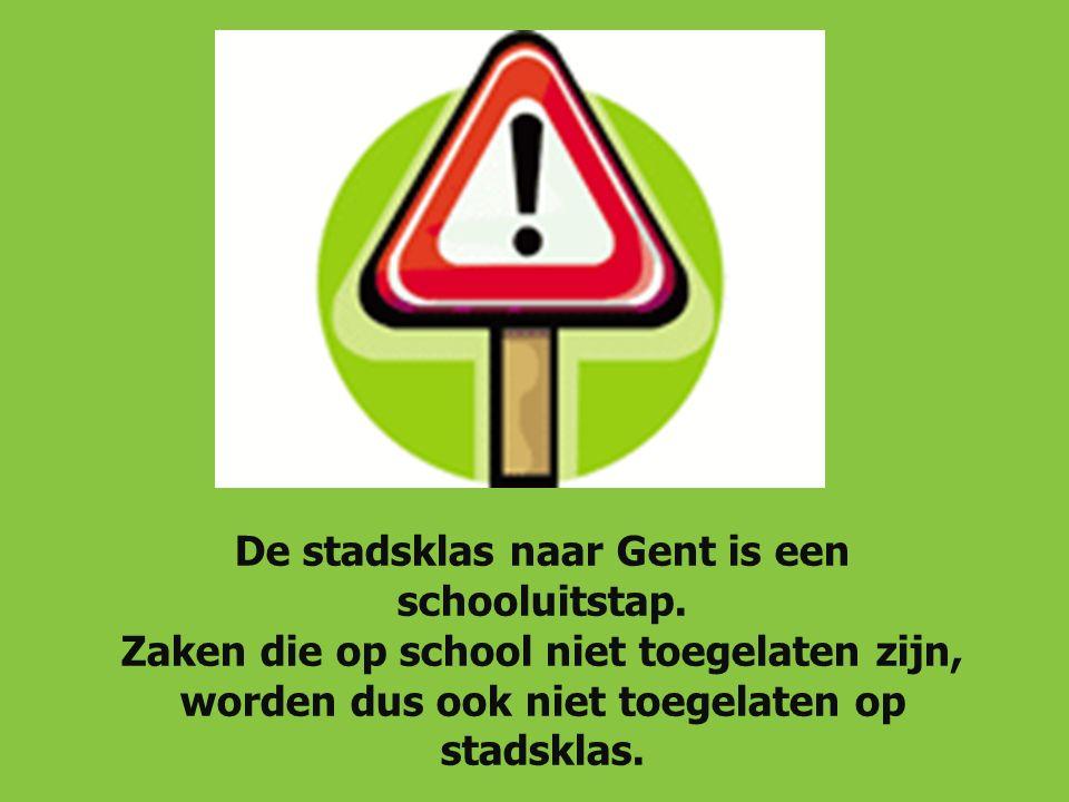 De stadsklas naar Gent is een schooluitstap.