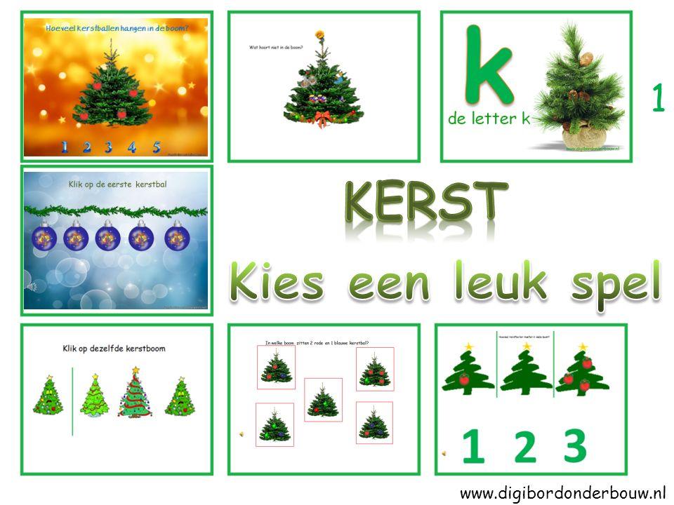 kerstengel kerstboom begint met de letter k.Zie jij nog een woord dat begint met de letter k.