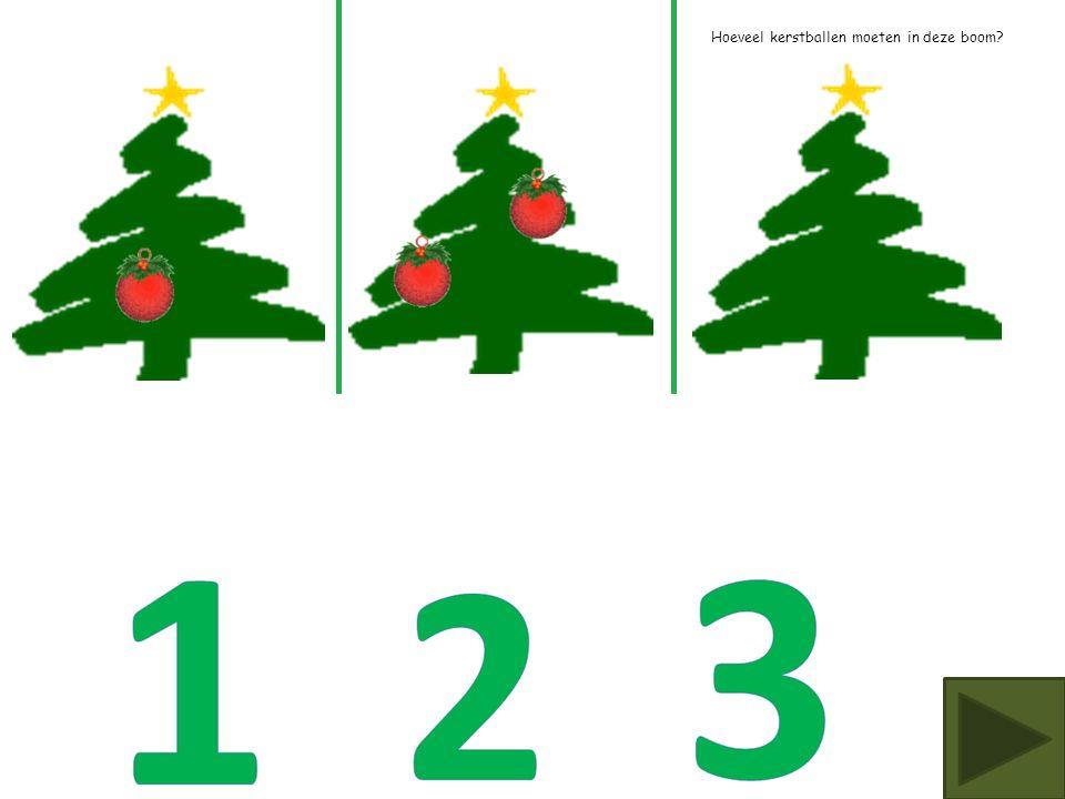 Hoeveel kerstballen moeten in deze boom?