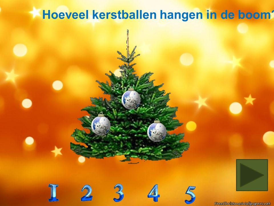 In welke boom zitten 2 rode en 1 blauwe kerstbal?