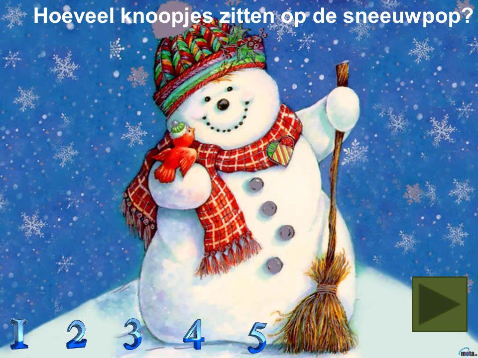 In welke boom zitten 2 blauwe en 1 rode kerstbal?