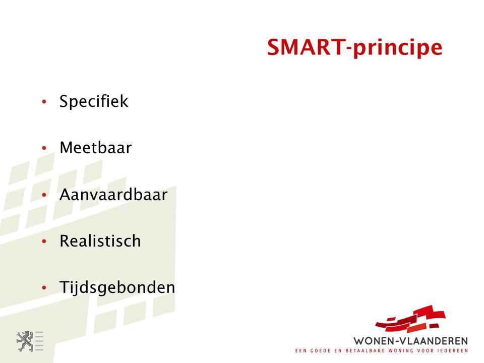 SMART-principe Specifiek Meetbaar Aanvaardbaar Realistisch Tijdsgebonden