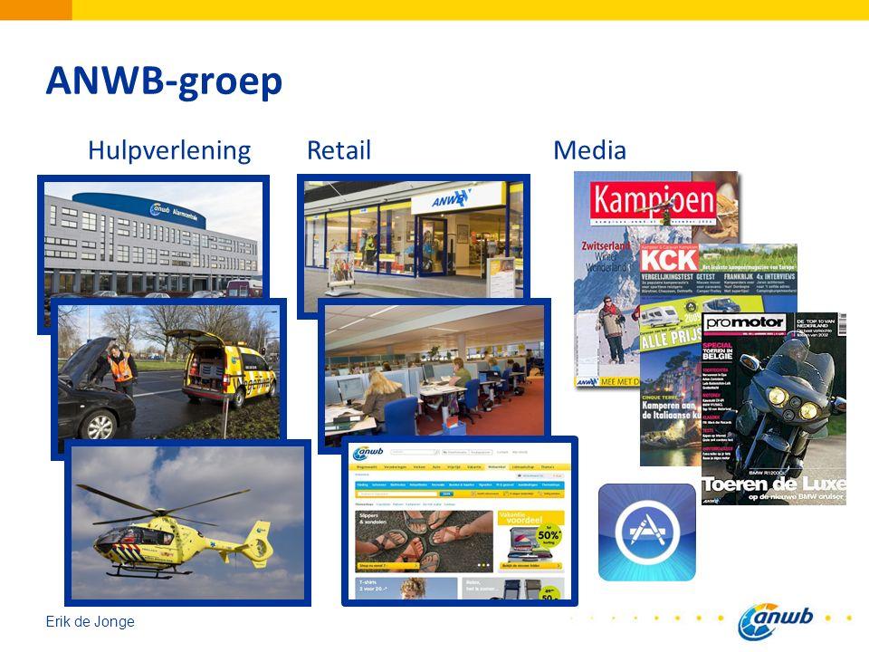 Erik de Jonge Agenda Introductie organisatie ANWB Stappen tot nu toe Status van en kaders voor de vraag Visie op samenwerking, co-produktie, win-win voor vervolg 14