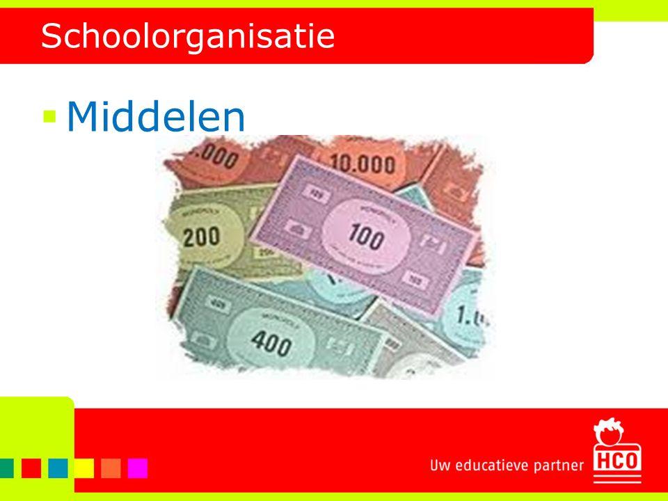 Schoolorganisatie  Middelen
