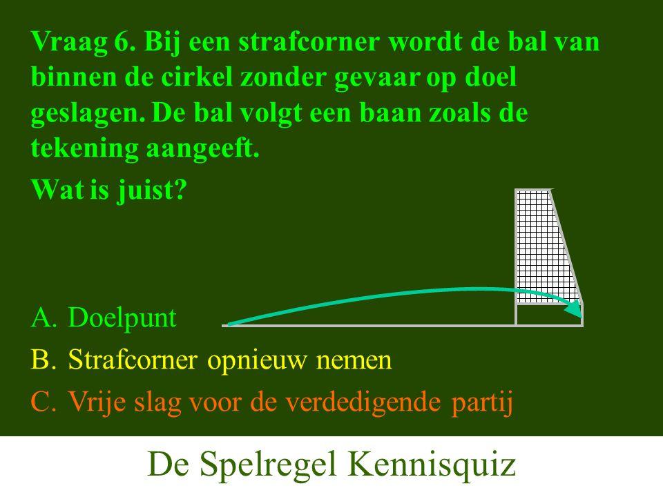 De Spelregel Kennisquiz Vraag 6.