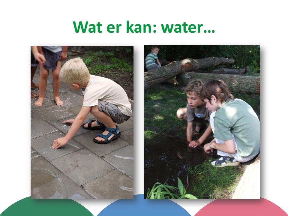 Wat er kan: water…