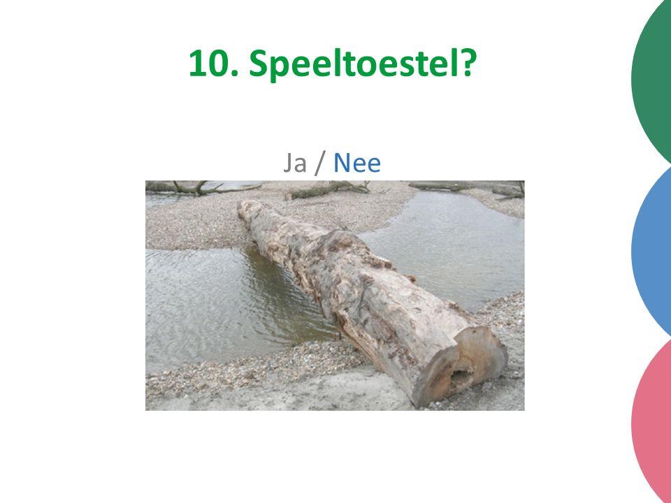 10. Speeltoestel Ja / Nee