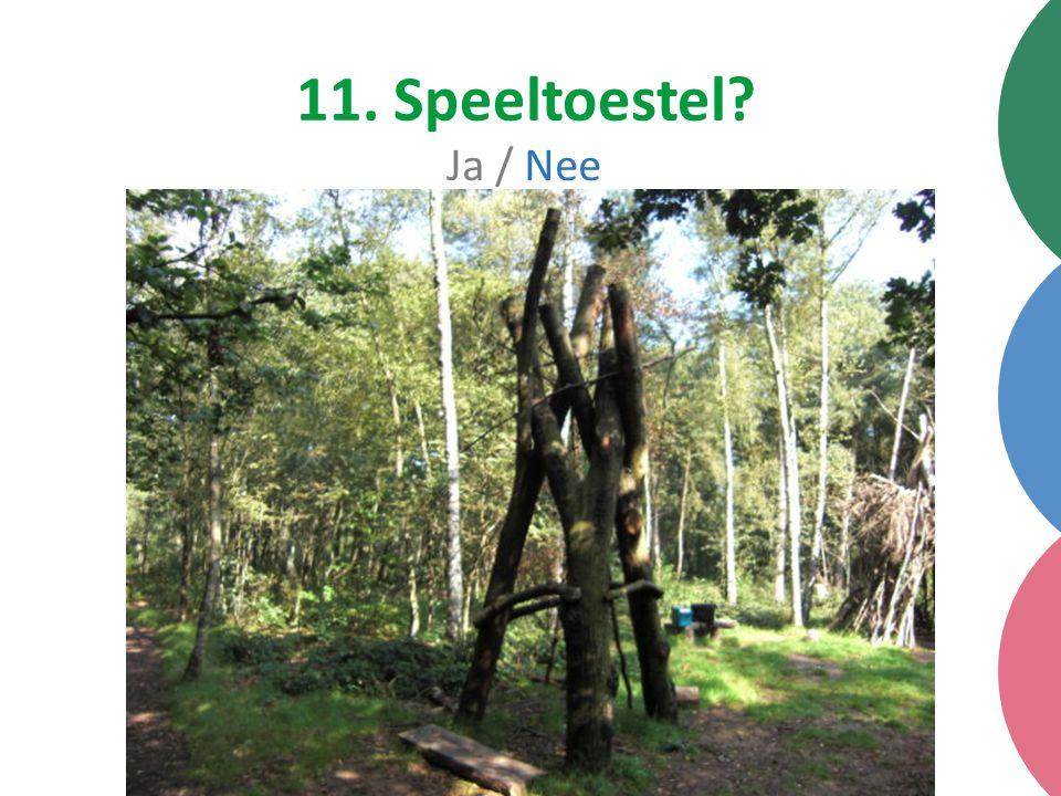 11. Speeltoestel Ja / Nee
