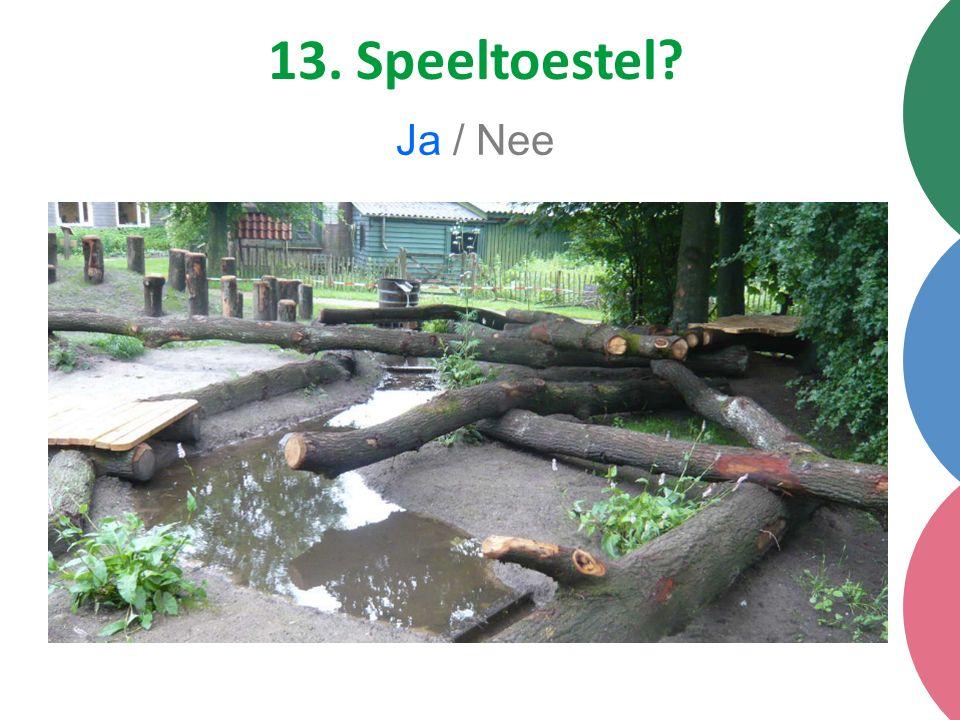 13. Speeltoestel Ja / Nee
