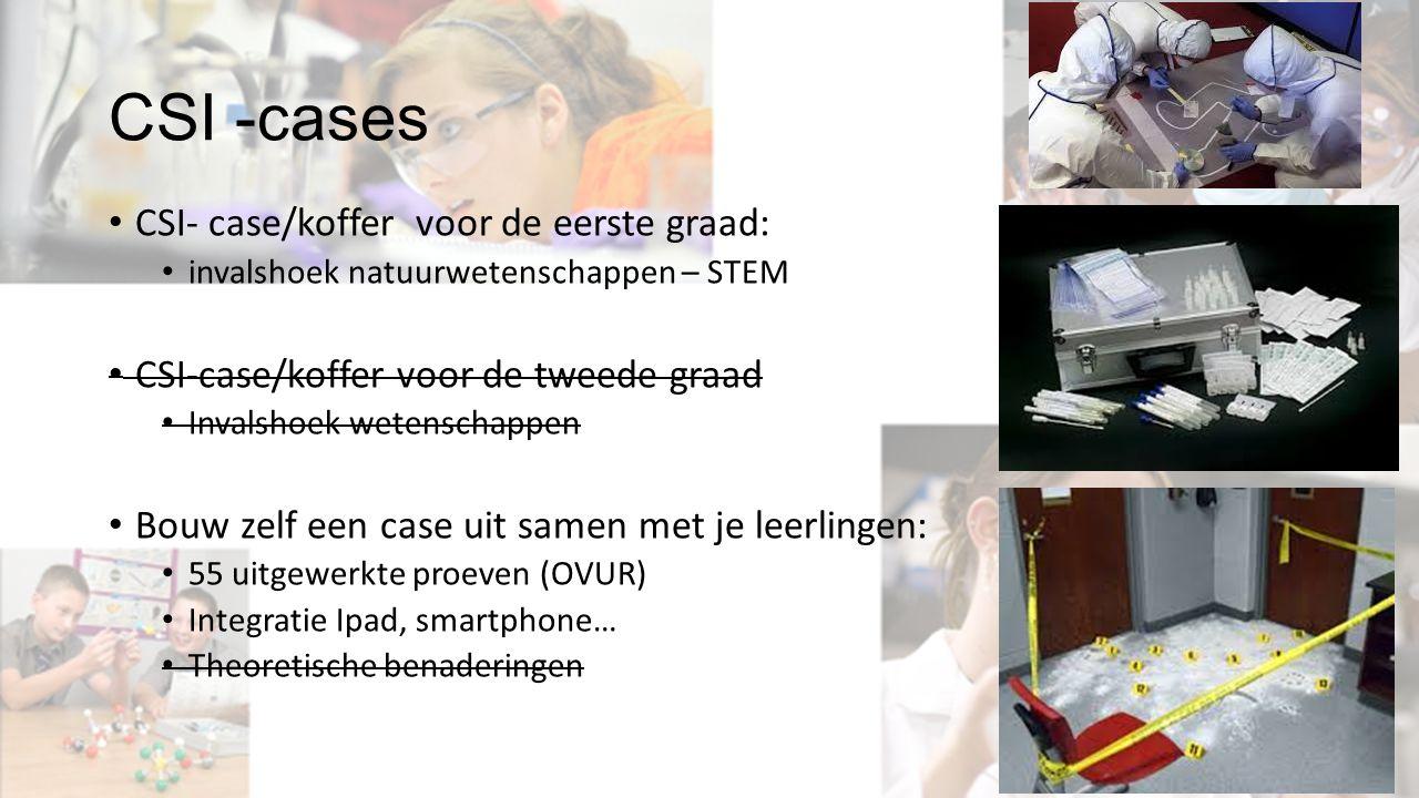 CSI- case/koffer voor de eerste graad: invalshoek natuurwetenschappen – STEM CSI-case/koffer voor de tweede graad Invalshoek wetenschappen Bouw zelf e