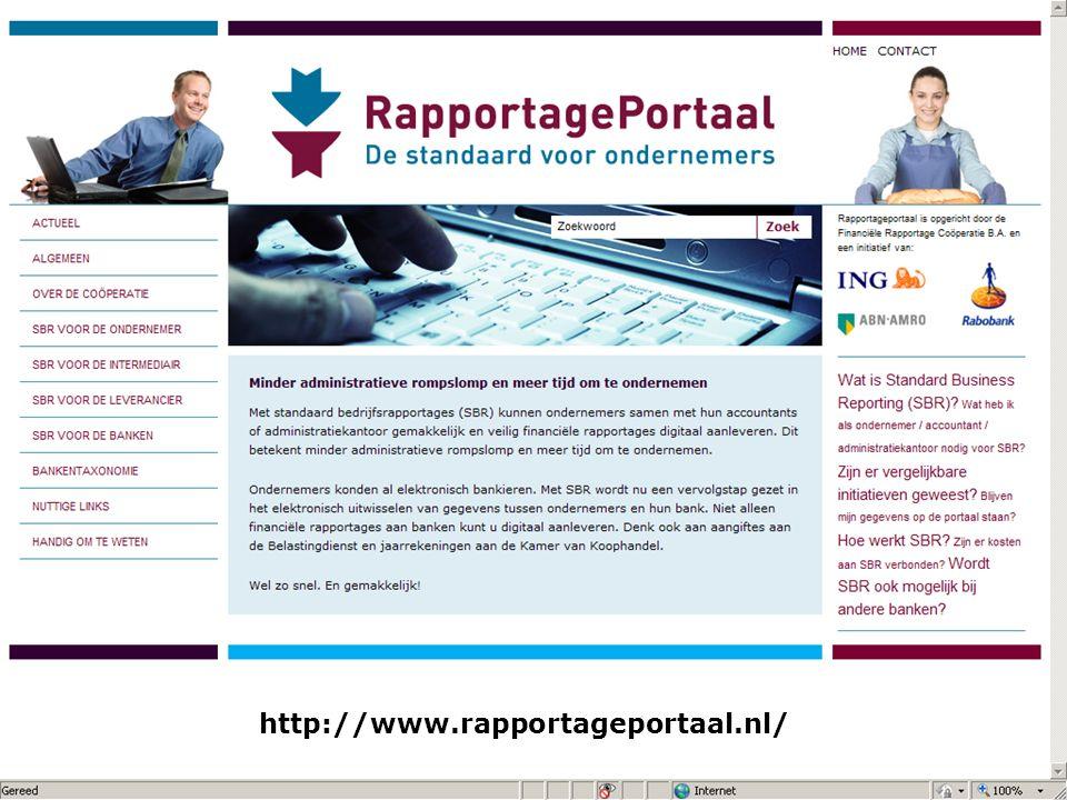 20 mei 2010 XBRL, lego voor accountants / auditors 27 http://www.rapportageportaal.nl/