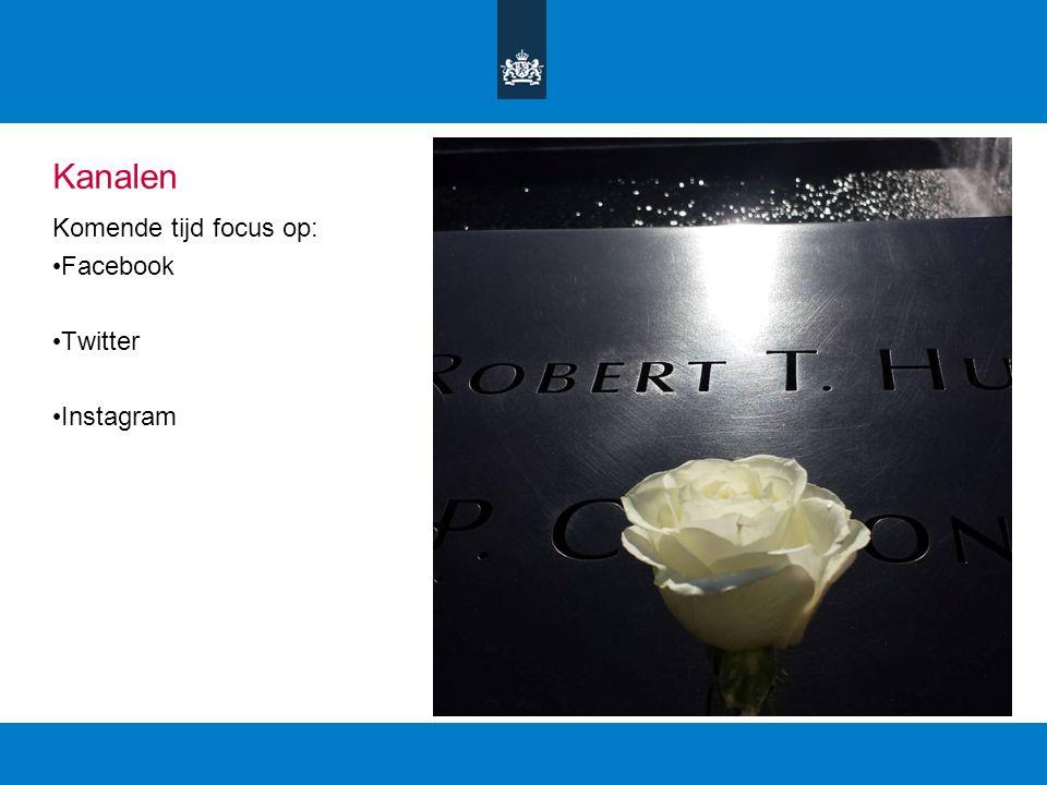 Kanalen Komende tijd focus op: Facebook Twitter Instagram
