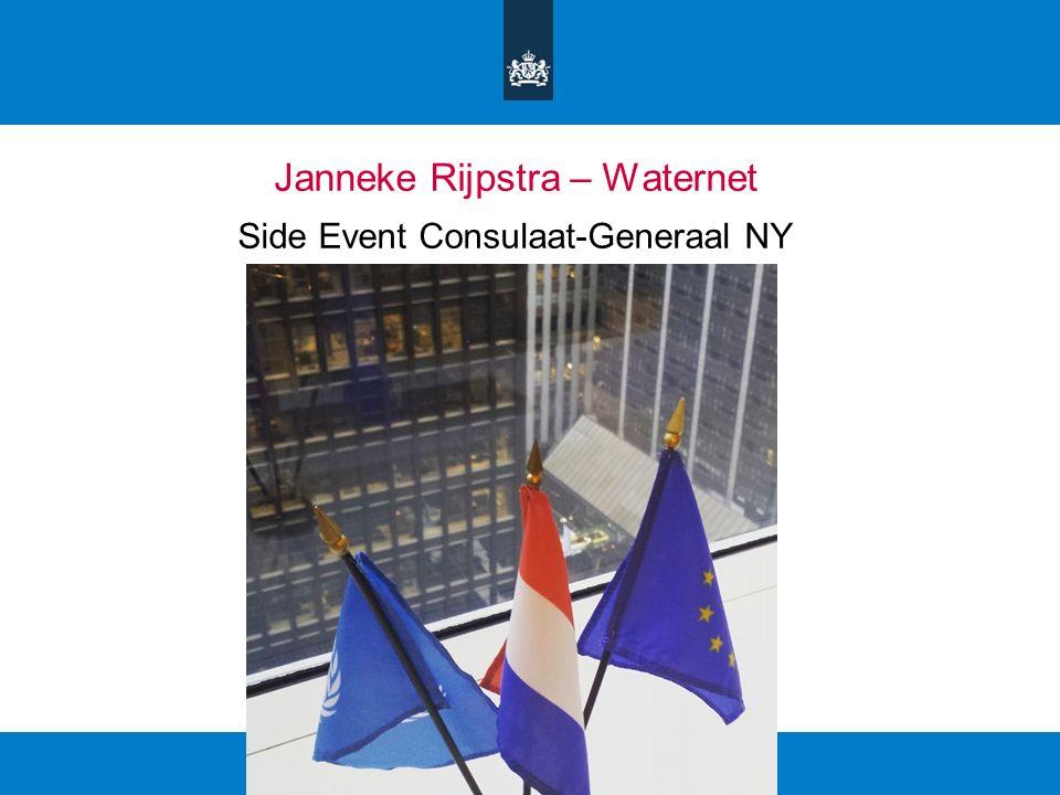 Janneke Rijpstra – Waternet Side Event Consulaat-Generaal NY