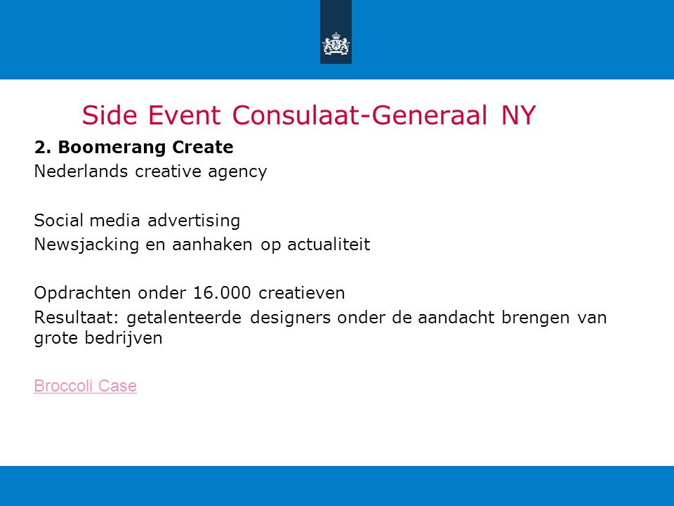 Side Event Consulaat-Generaal NY 2.