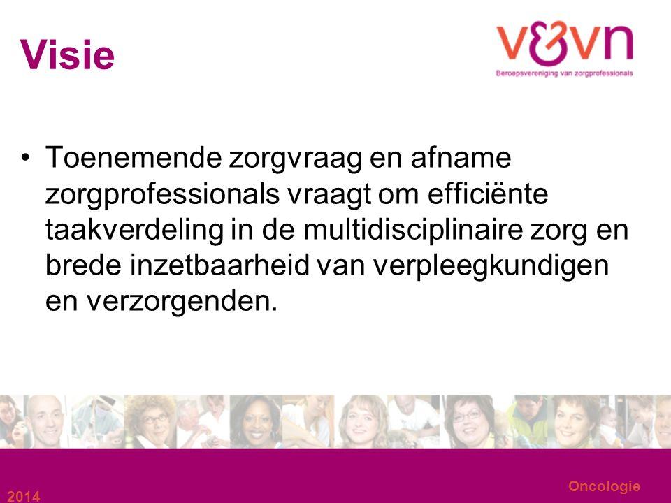 Oncologie Waarden Deskundigheid Samen sterk Verscheidenheid waardevol Samenwerking in alle lijnen Transparantie en open communicatie 2014