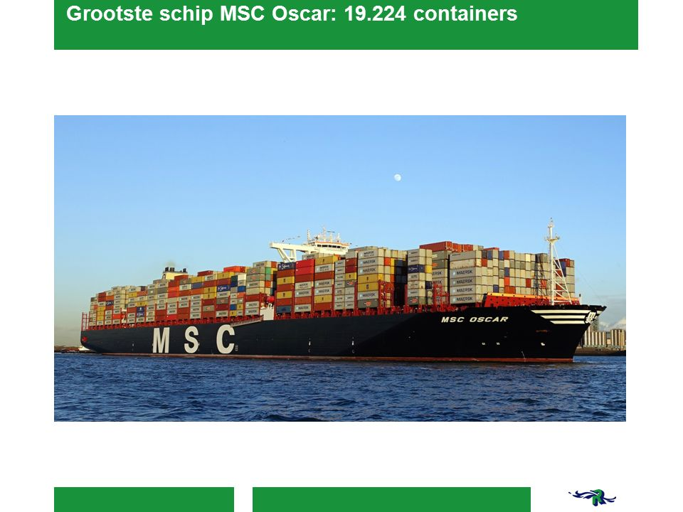 Grootste schip MSC Oscar: 19.224 containers