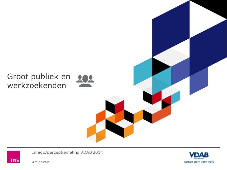Imago/perceptiemeting VDAB 2014 © TNS 140515 Groot publiek en werkzoekenden