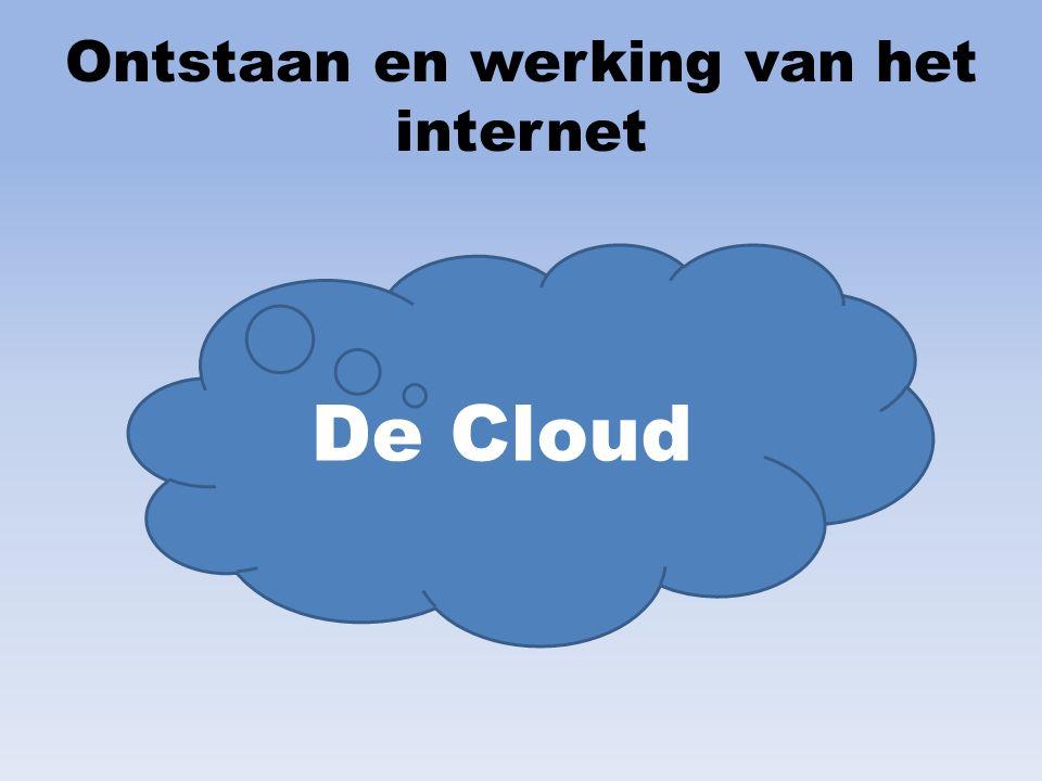 Inhoud Geschiedenis Computer Ontstaan internet Werking internet The Cloud Toepassing