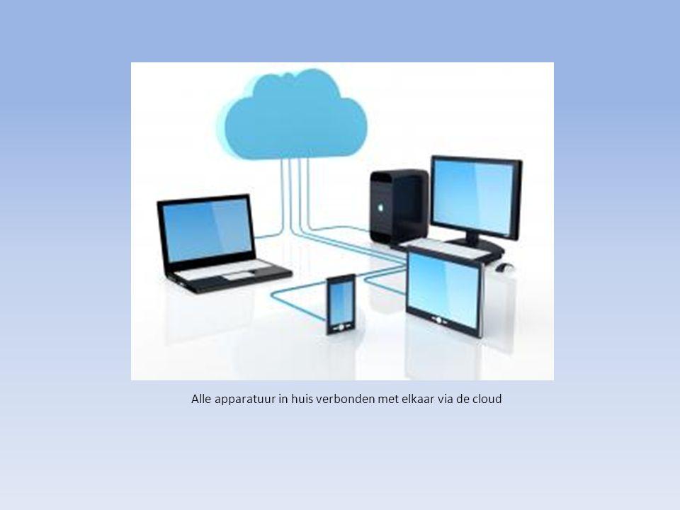 Alle apparatuur in huis verbonden met elkaar via de cloud