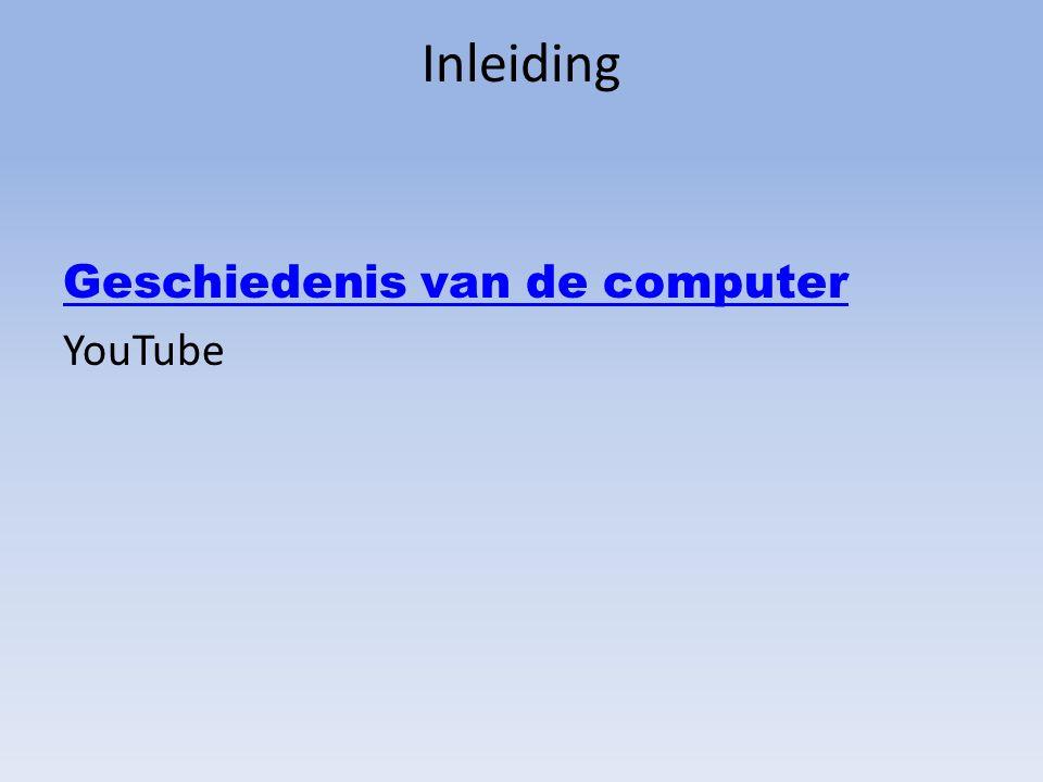 Inleiding Geschiedenis van de computer YouTube