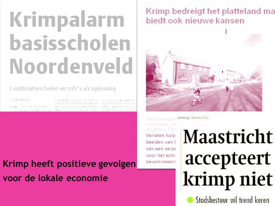 9 Krimp heeft positieve gevolgen voor de lokale economie