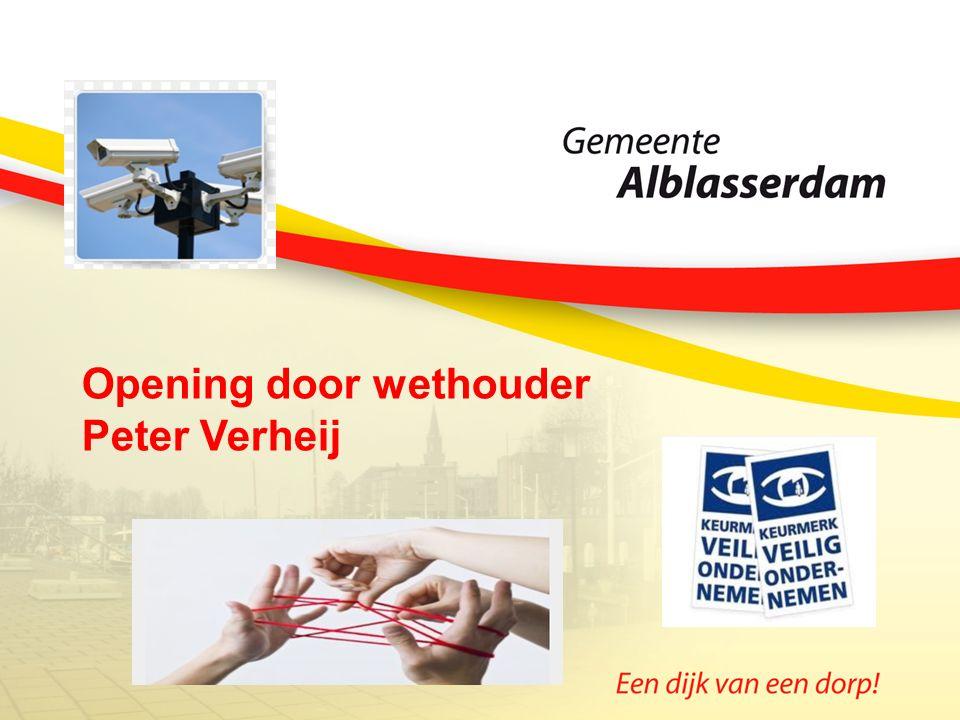 Opening door wethouder Peter Verheij