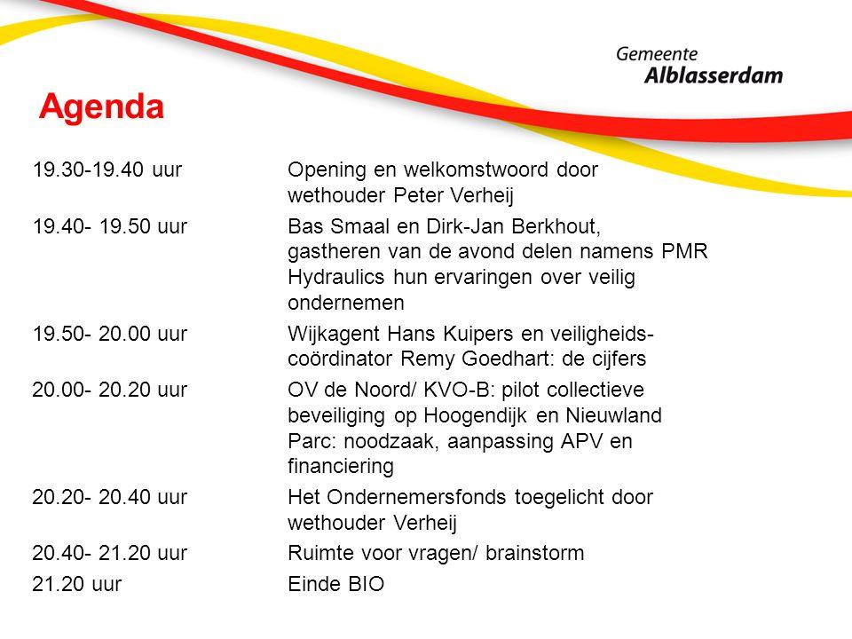 Agenda 19.30-19.40 uur Opening en welkomstwoord door wethouder Peter Verheij 19.40- 19.50 uur Bas Smaal en Dirk-Jan Berkhout, gastheren van de avond d