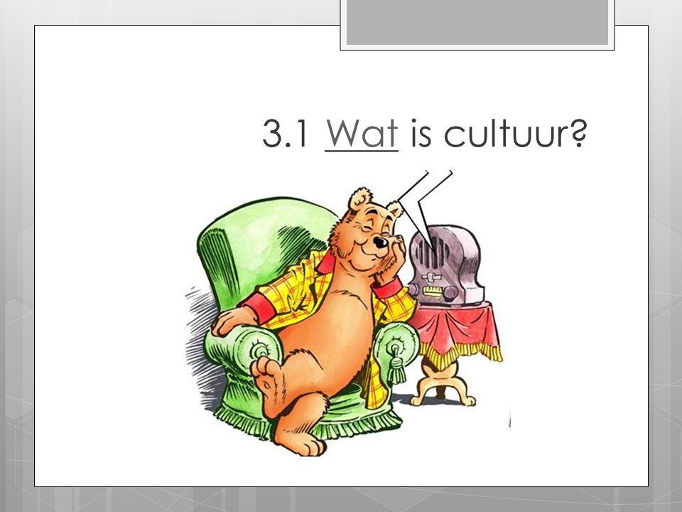 Definities  Cultuur is dat complexe geheel van kennis, geloof, kunst, wetgeving, moraal, gewoonte plus andere vaardigheden en rituelen, dat mensen nodig hebben als lid van een samenlevingsverband (Tylor, 1871)  Cultuur is de sociale erfenis van handelen en geloof, dat de inhoud van ons leven bepaalt (Sapir, 1921)  Cultuur is the way of life van een groep mensen.
