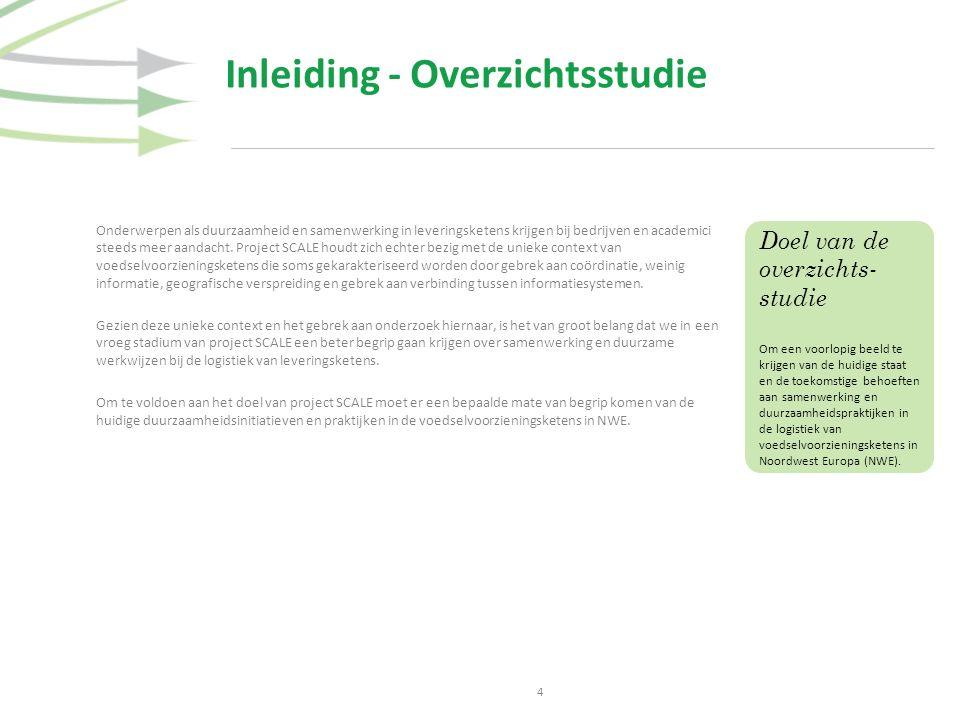Inleiding - Overzichtsstudie 4 Onderwerpen als duurzaamheid en samenwerking in leveringsketens krijgen bij bedrijven en academici steeds meer aandacht.
