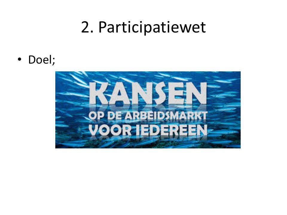 2. Participatiewet Doel;