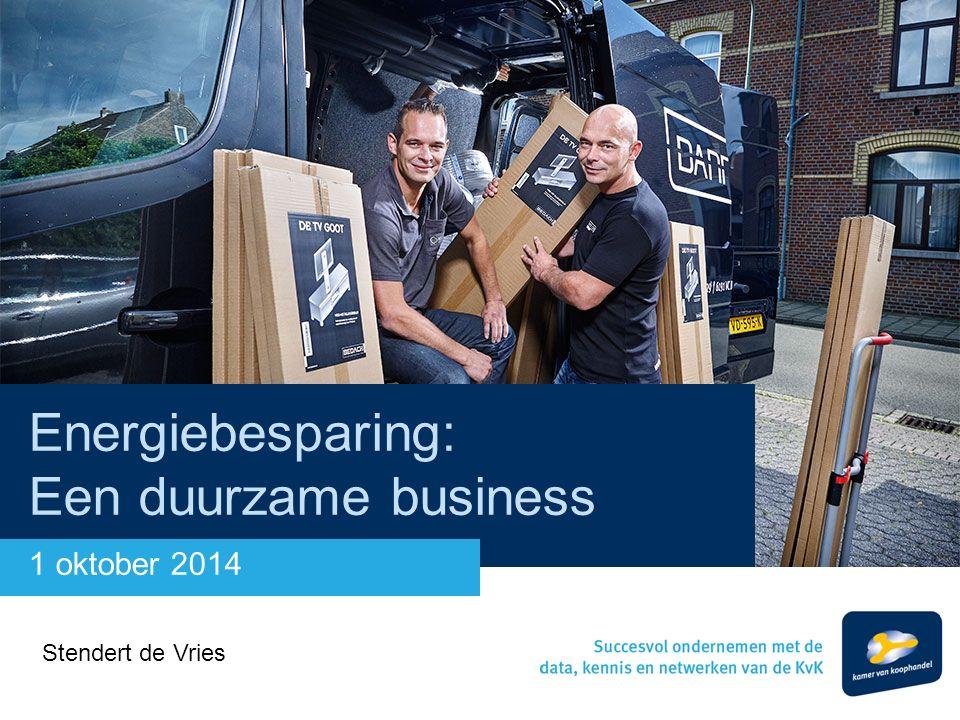 Energiebesparing: Een duurzame business 1 oktober 2014 Stendert de Vries