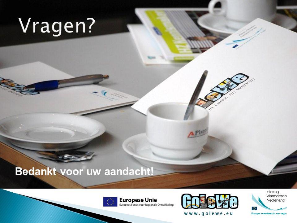 www.golewe.eu Bedankt voor uw aandacht!