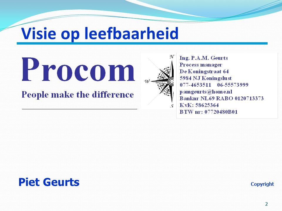2 22 Visie op leefbaarheid Piet Geurts Copyright