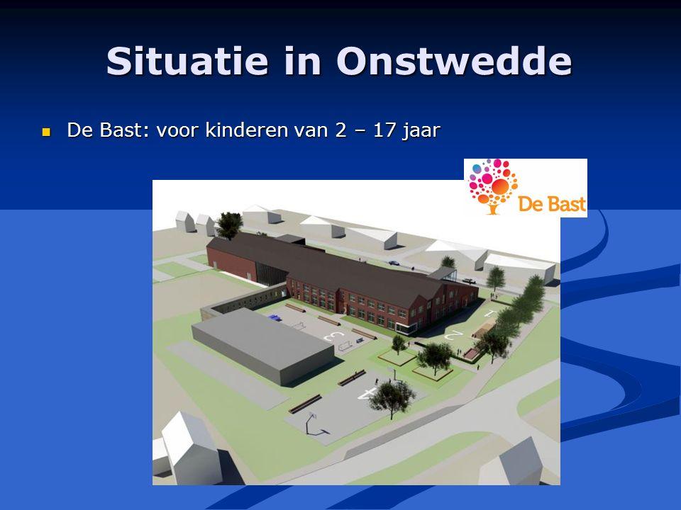 Situatie in Onstwedde De Bast: voor kinderen van 2 – 17 jaar De Bast: voor kinderen van 2 – 17 jaar