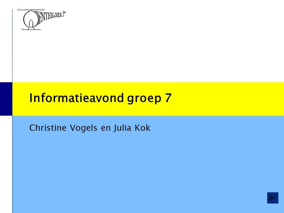Informatieavond groep 7 Christine Vogels en Julia Kok