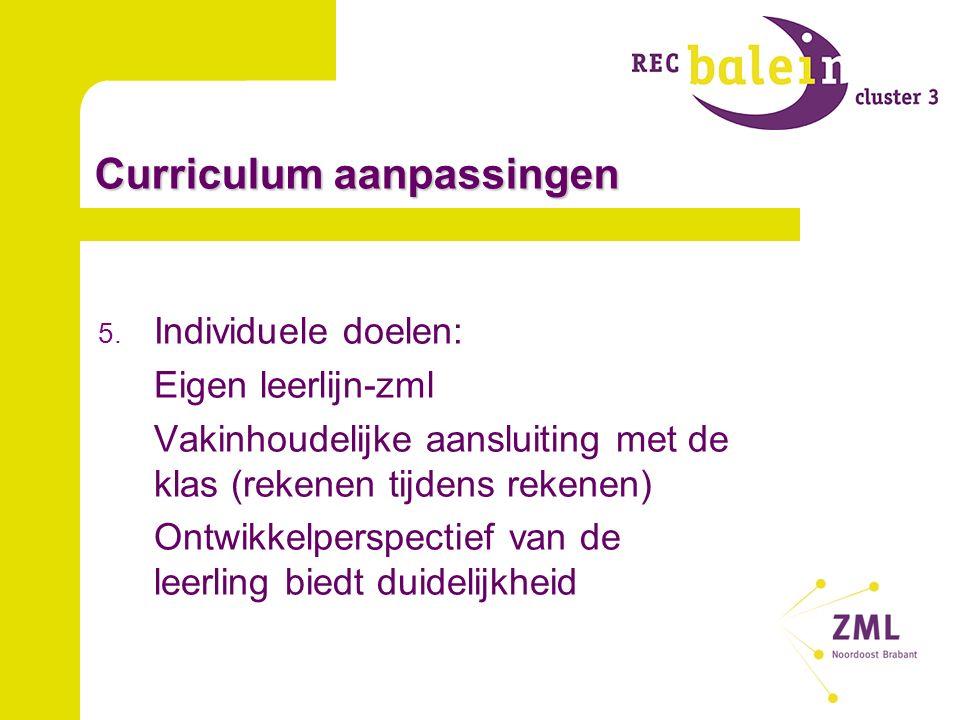 Curriculum aanpassingen 5.