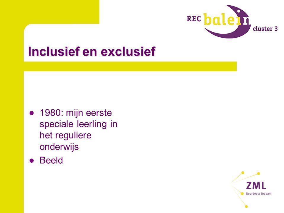 Inclusief en exclusief 1980: mijn eerste speciale leerling in het reguliere onderwijs Beeld