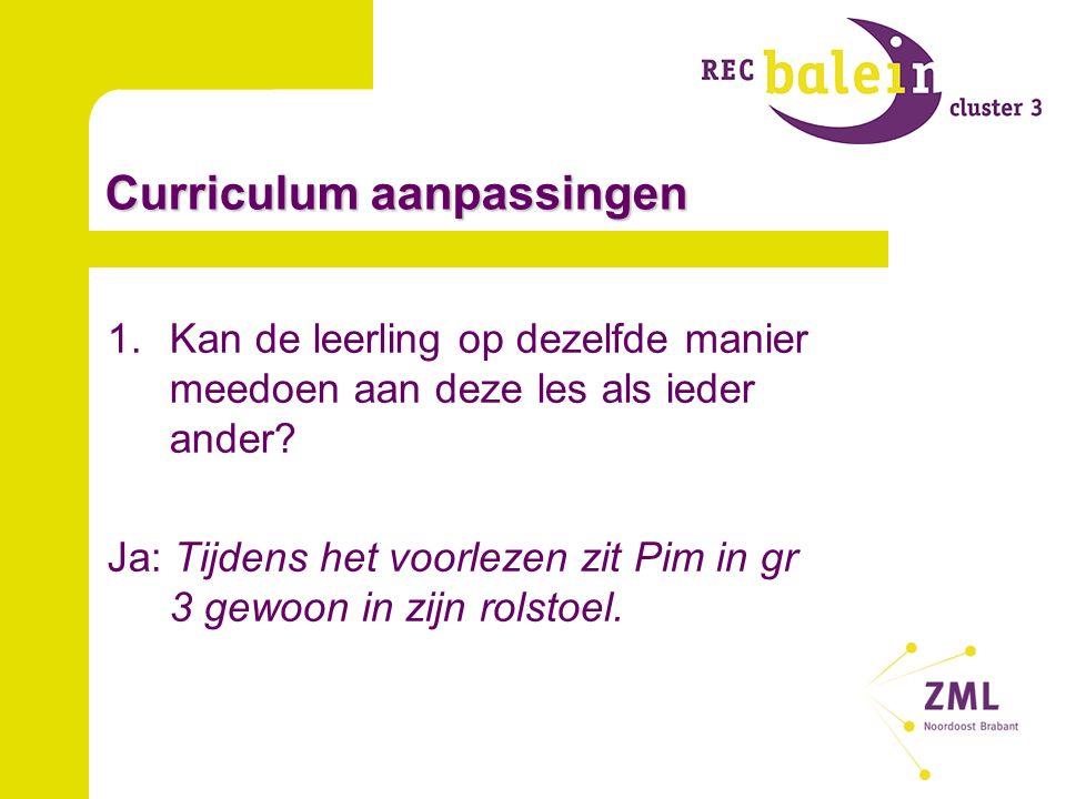 Curriculum aanpassingen 2.