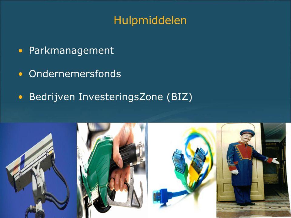 Hulpmiddelen Parkmanagement Ondernemersfonds Bedrijven InvesteringsZone (BIZ)