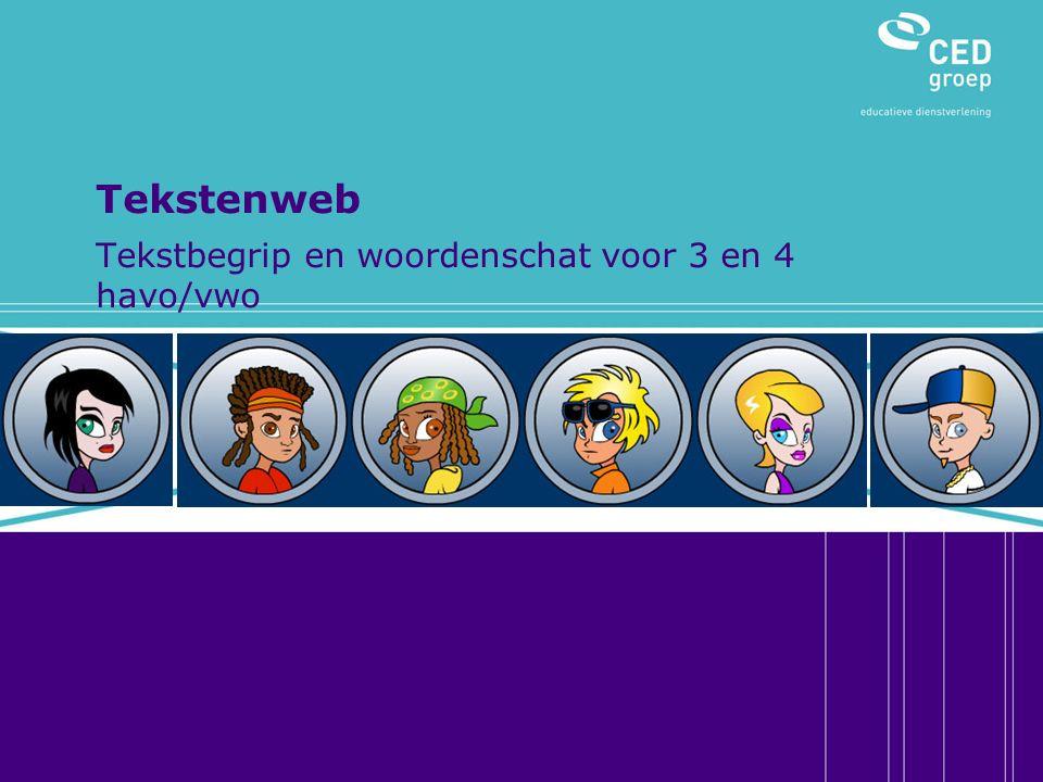 Aanleiding voor de ontwikkeling 1.Onderzoek taalvaardigheid tweede fase op 7 Rotterdamse scholen met havo/vwo-locaties 2.Populatie: ruim 1000 leerlingen uit 4 en 5 havo/vwo 3.Aandachtspunten: tekstbegrip, woordenschat, achtergrondgegevens leerlingen, zelfinschatting leerlingen