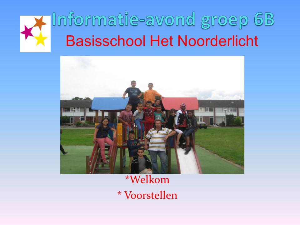 *Welkom * Voorstellen Basisschool Het Noorderlicht