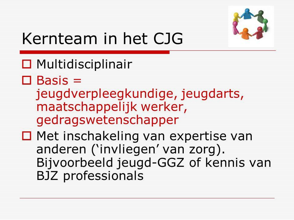 De basis….Breed aanbod van locale, samenwerkende voorzieningen  CJG.