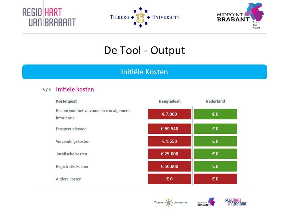 De Tool - Output Initiële Kosten