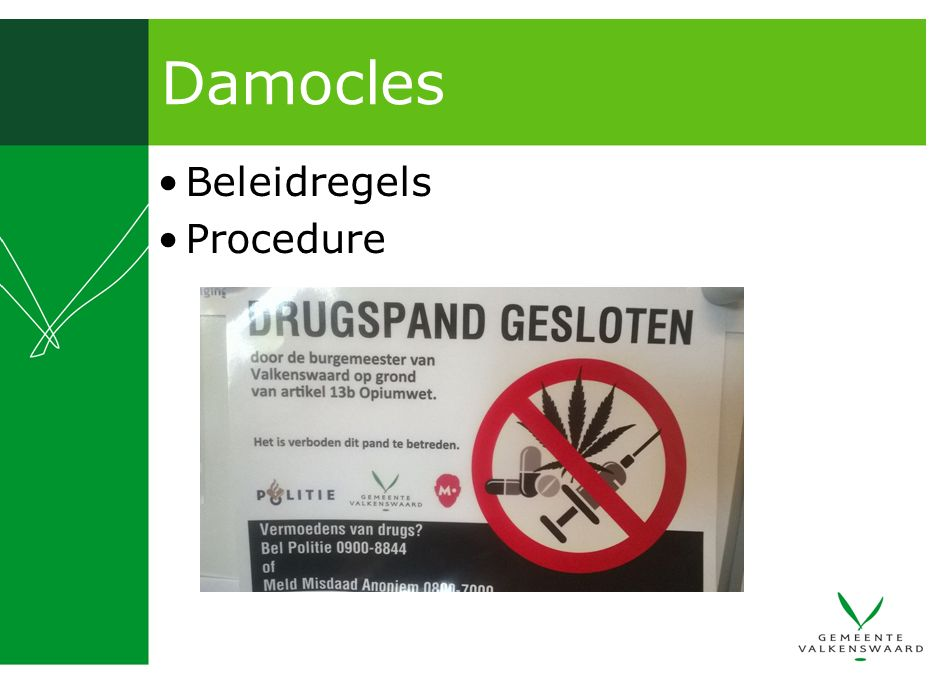 Damocles Beleidregels Procedure