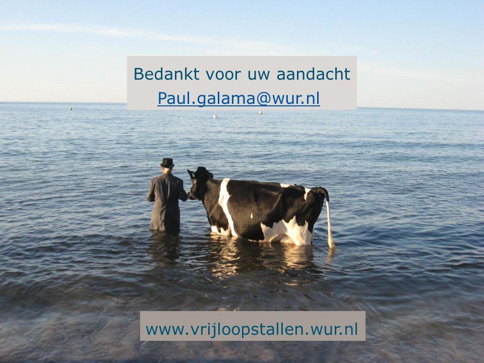 Bedankt voor uw aandacht Paul.galama@wur.nl www.vrijloopstallen.wur.nl
